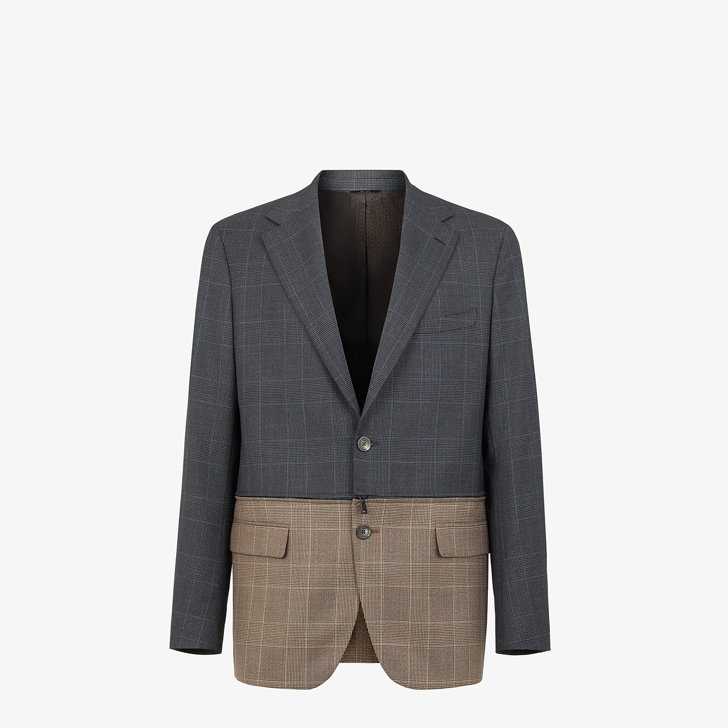 FENDI JACKET - Multicolour Prince of Wales check blazer - view 1 detail