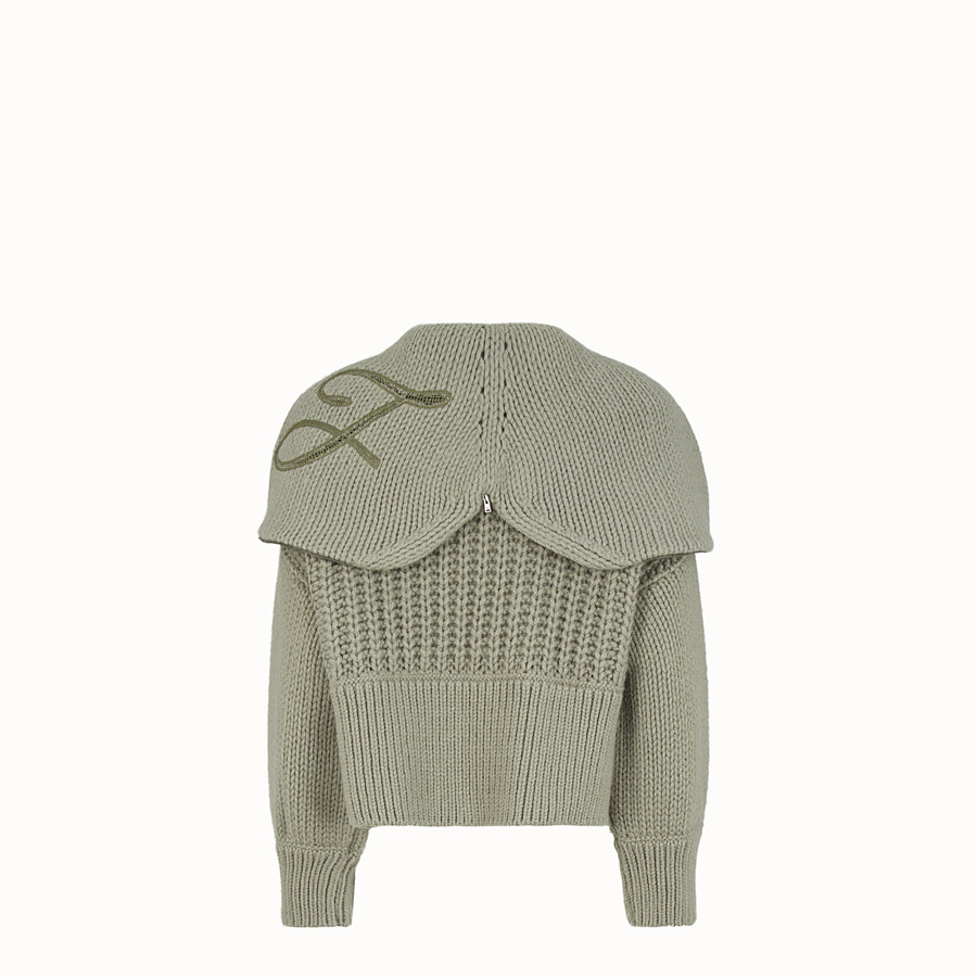 FENDI BLOUSE - Green wool pullover - view 2 detail