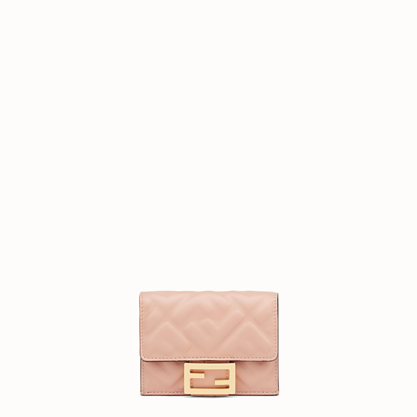 FENDI MICRO TRIFOLD - Pink nappa leather wallet - view 1 small thumbnail