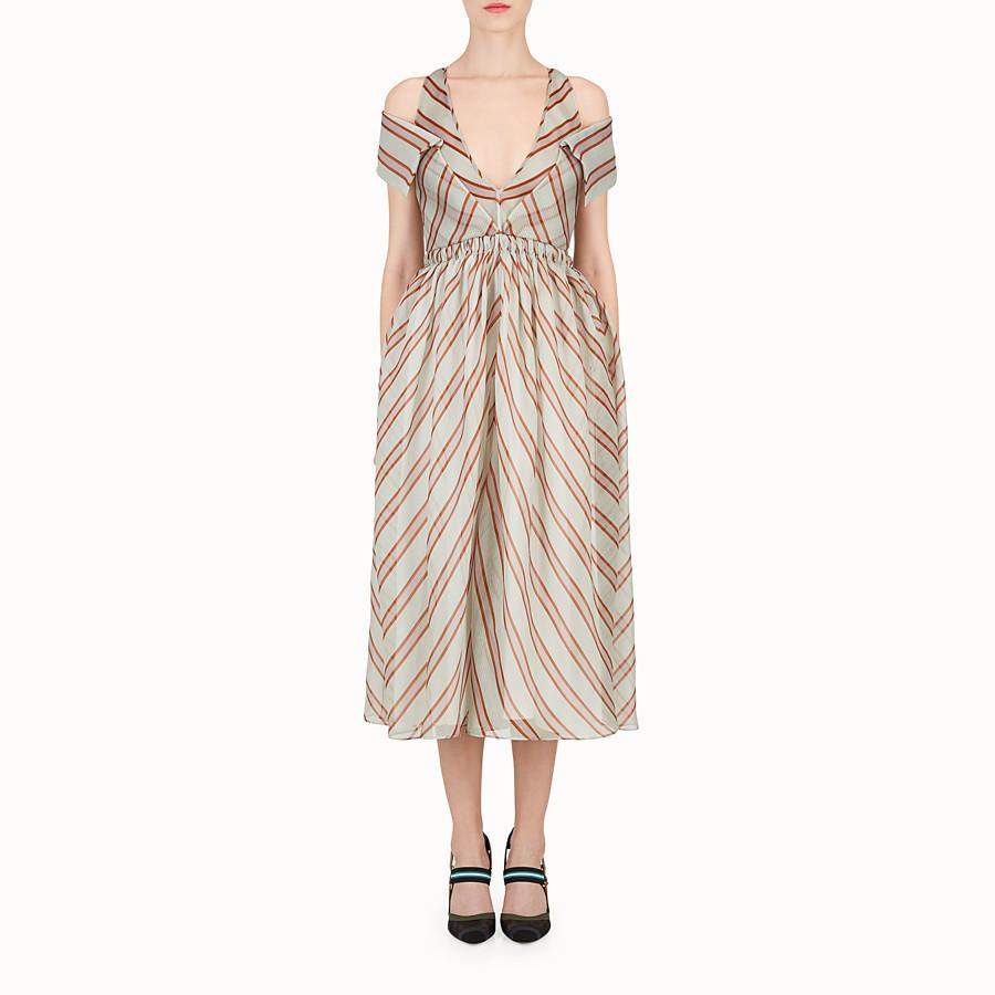 FENDI DRESS - Light green silk gauze dress - view 1 detail