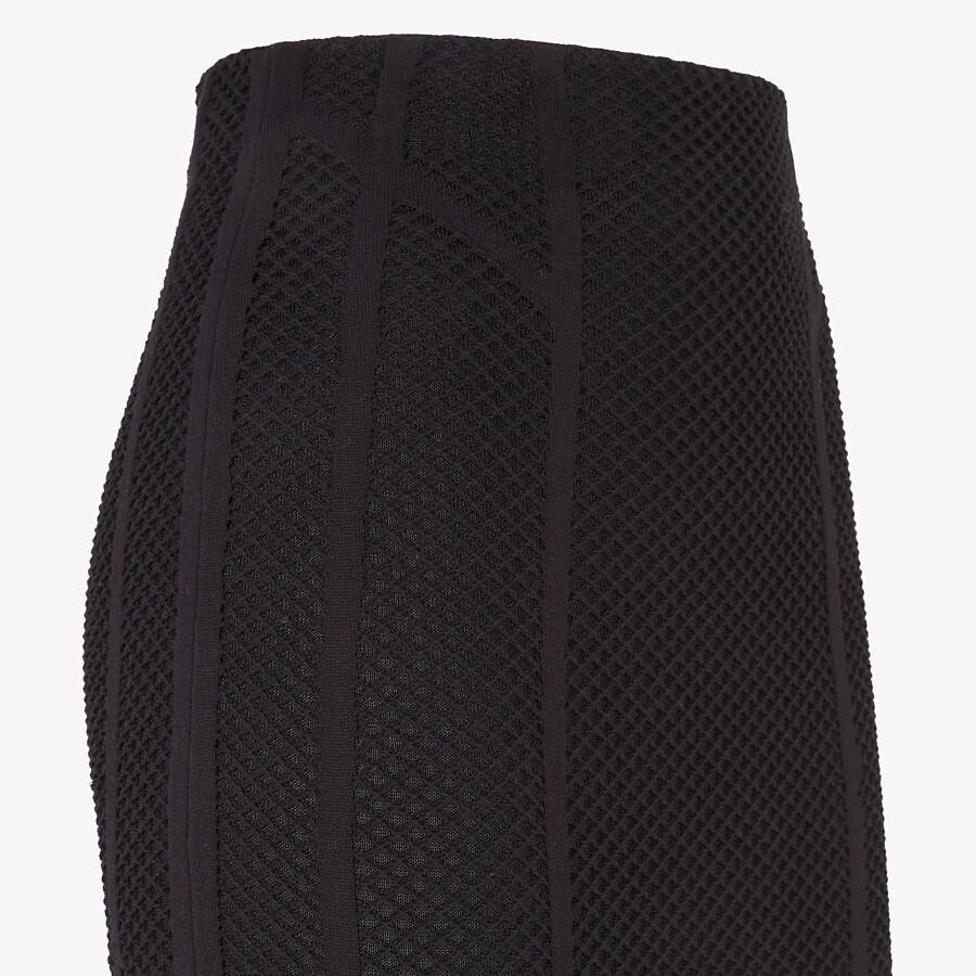 FENDI SKIRT - Black mesh skirt - view 3 detail