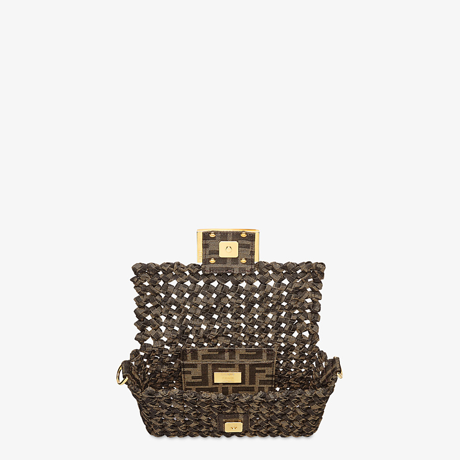 FENDI BAGUETTE - Jacquard fabric interlace bag - view 5 detail