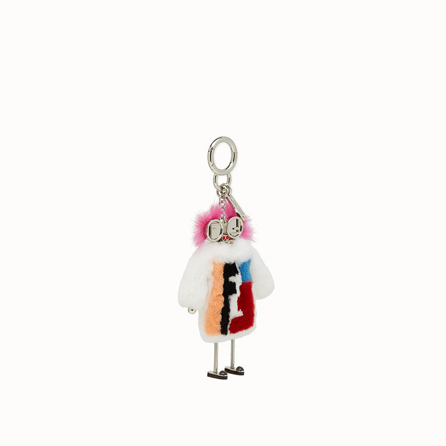 FENDI TEEN WITCHES CHARM - Charm in white rabbit fur - view 1 detail