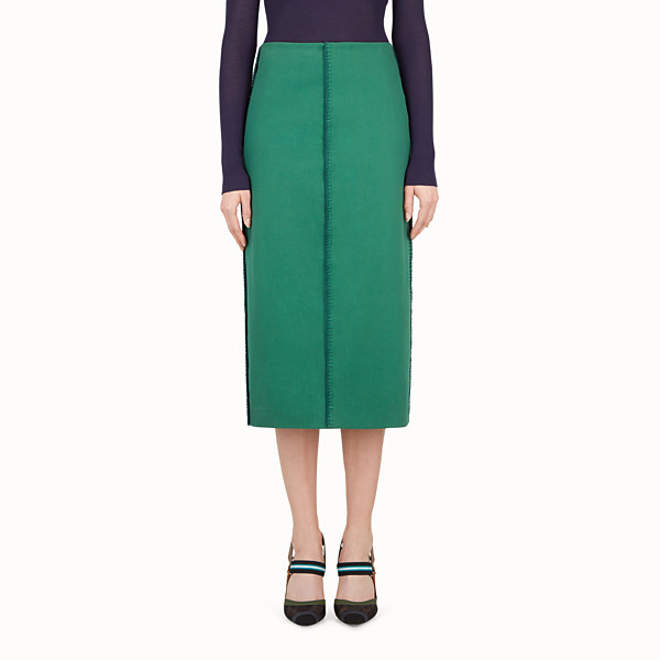 FENDI SKIRT - Green cotton skirt - view 1 small thumbnail