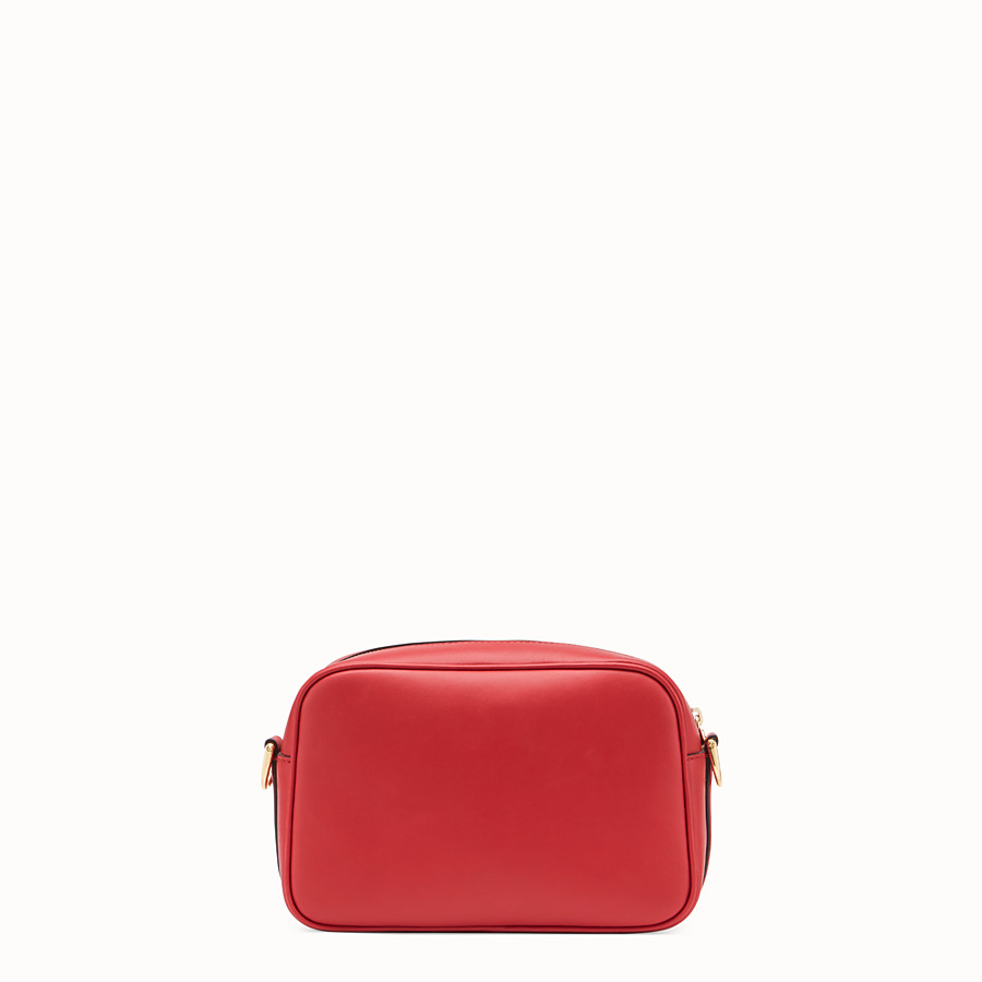 FENDI CAMERA CASE - Red leather bag - view 3 detail
