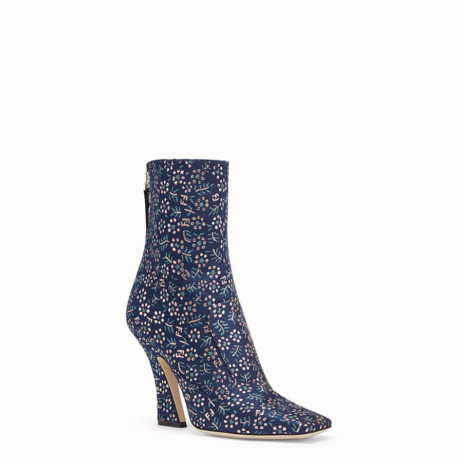 FENDI ANKLE BOOTS - Multicolour fabric booties - view 2 detail