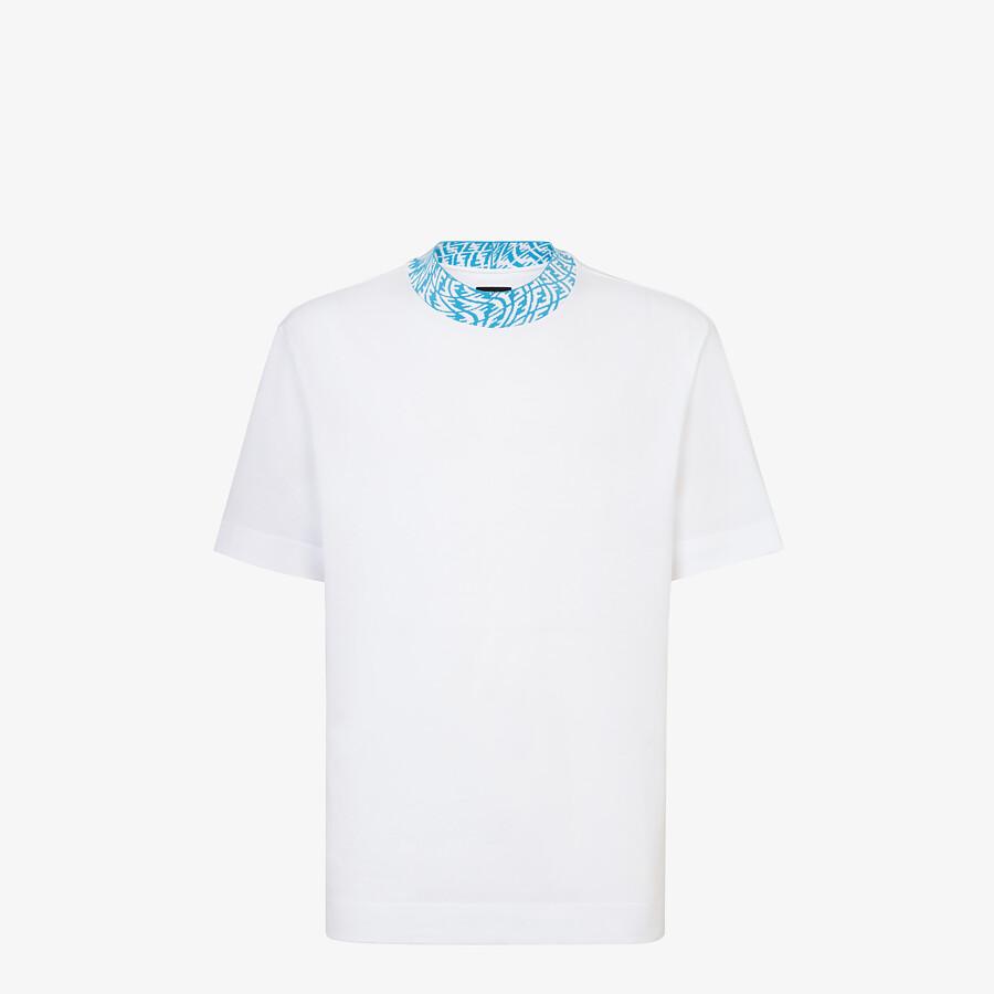 FENDI T 恤 - 白色針織T恤 - view 1 detail