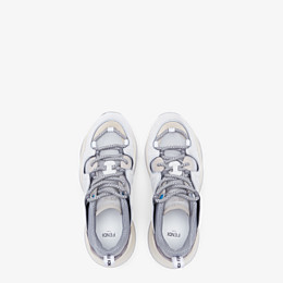 FENDI SNEAKERS - White suede low-tops - view 4 thumbnail