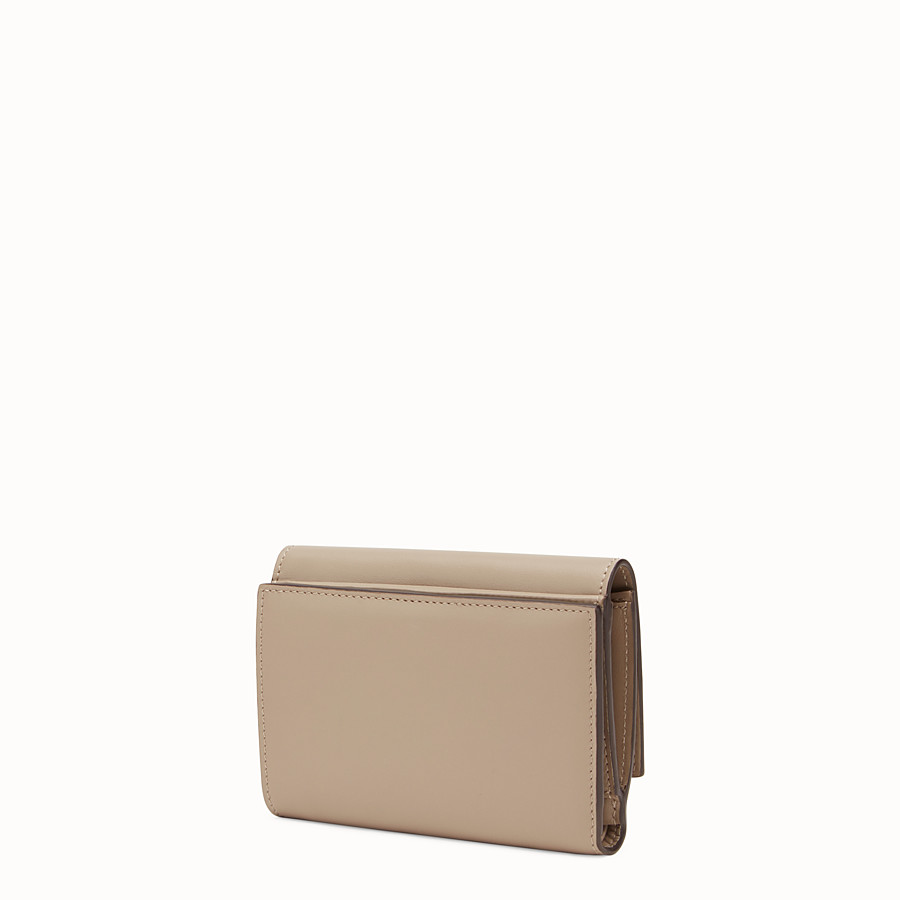 FENDI PEEKABOO REGULAR - Medium continental wallet in dove-grey leather - view 2 detail