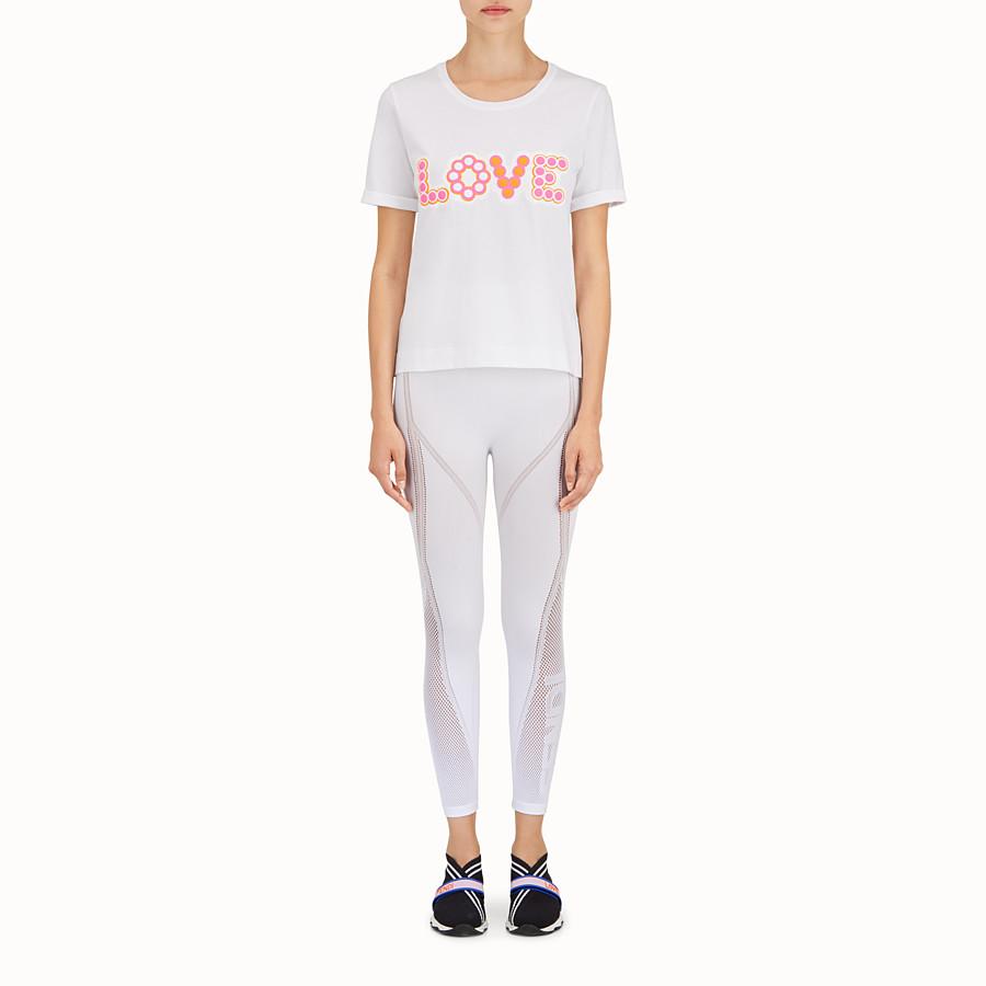 FENDI T恤 - 白色棉質T恤 - view 2 detail
