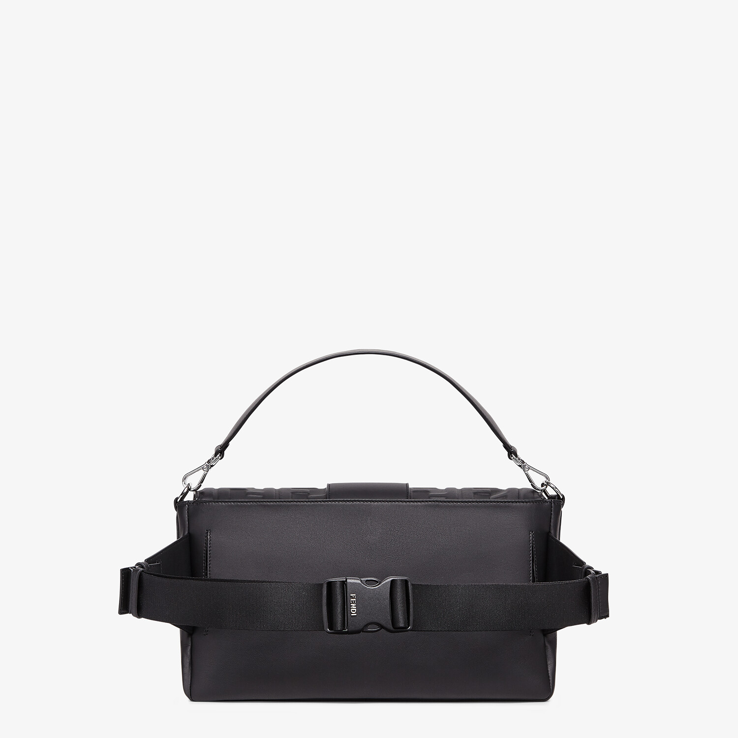FENDI BAGUETTE LARGE - Black nappa leather bag - view 3 detail