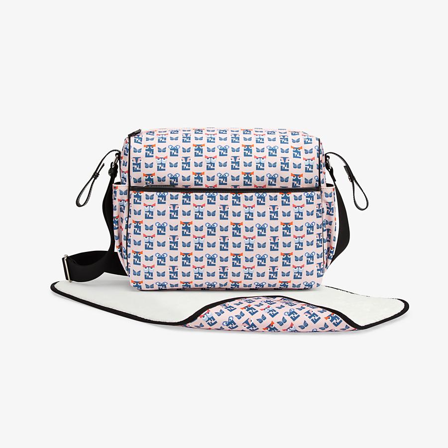 FENDI CHANGING BAG - Changing Bag in tessuto di colore rosa con stampa monster - vista 1 dettaglio