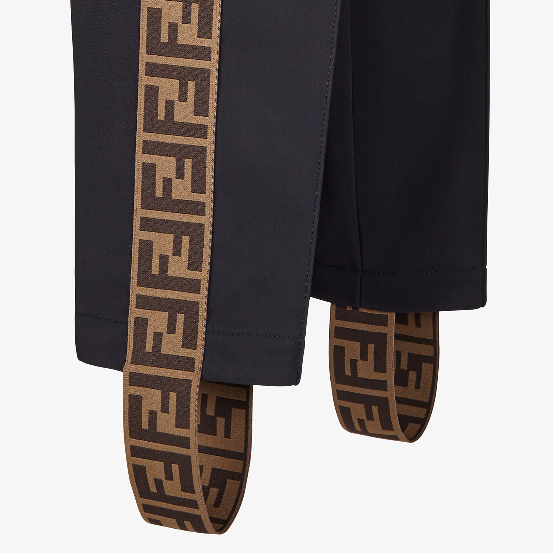 FENDI SKI LEGGINGS - Black stretch fabric ski leggings - view 3 detail