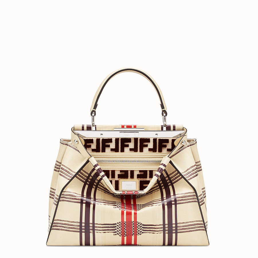 FENDI PEEKABOO REGULAR - White karung bag - view 1 detail