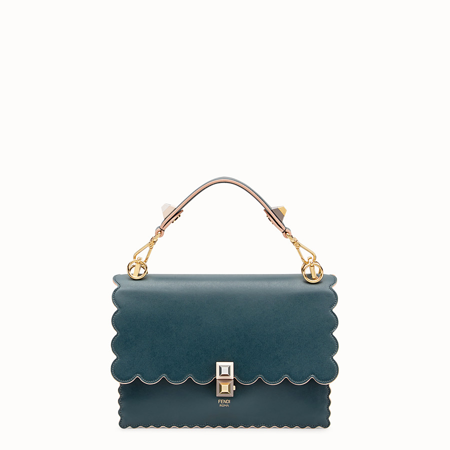 FENDI KAN I - Green leather bag - view 1 detail
