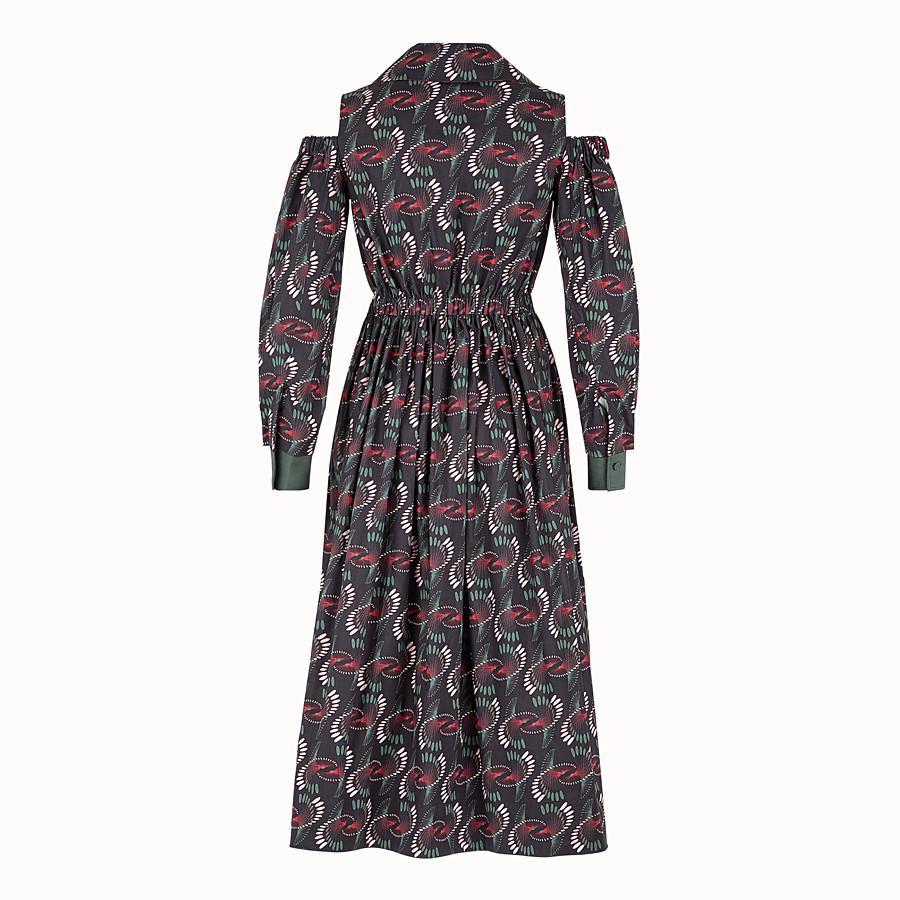 FENDI DRESS - Multicolour poplin dress - view 2 detail