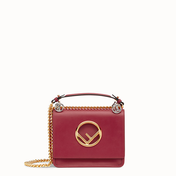 FENDI KAN I F SMALL - Red leather mini-bag - view 1 small thumbnail