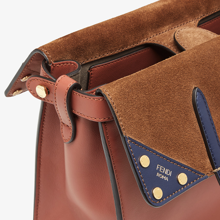 FENDI FENDI FLIP MEDIUM - Tasche aus Leder in Rot - view 7 detail