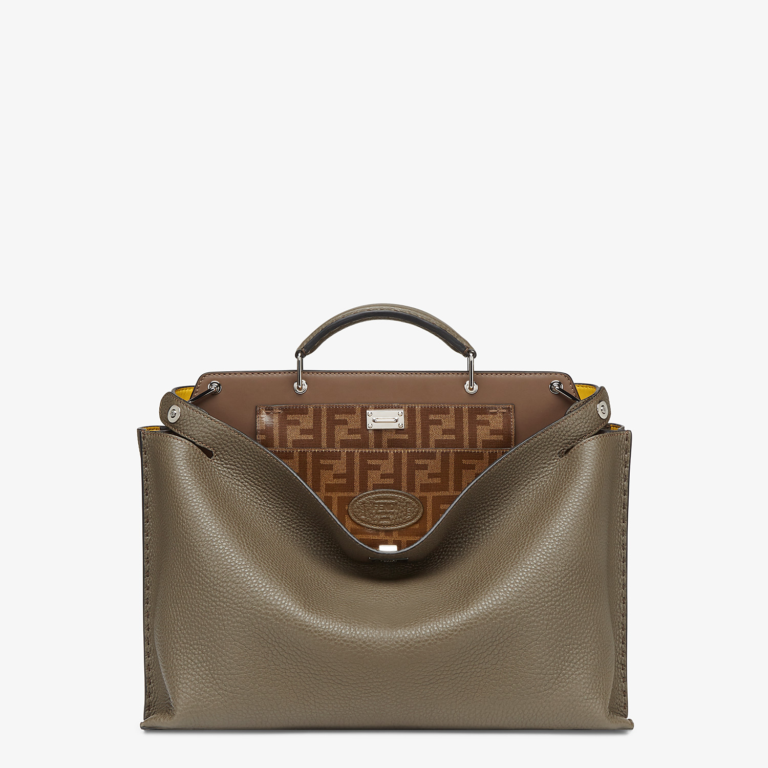 FENDI PEEKABOO ICONIC ESSENTIAL - Green leather bag - view 1 detail