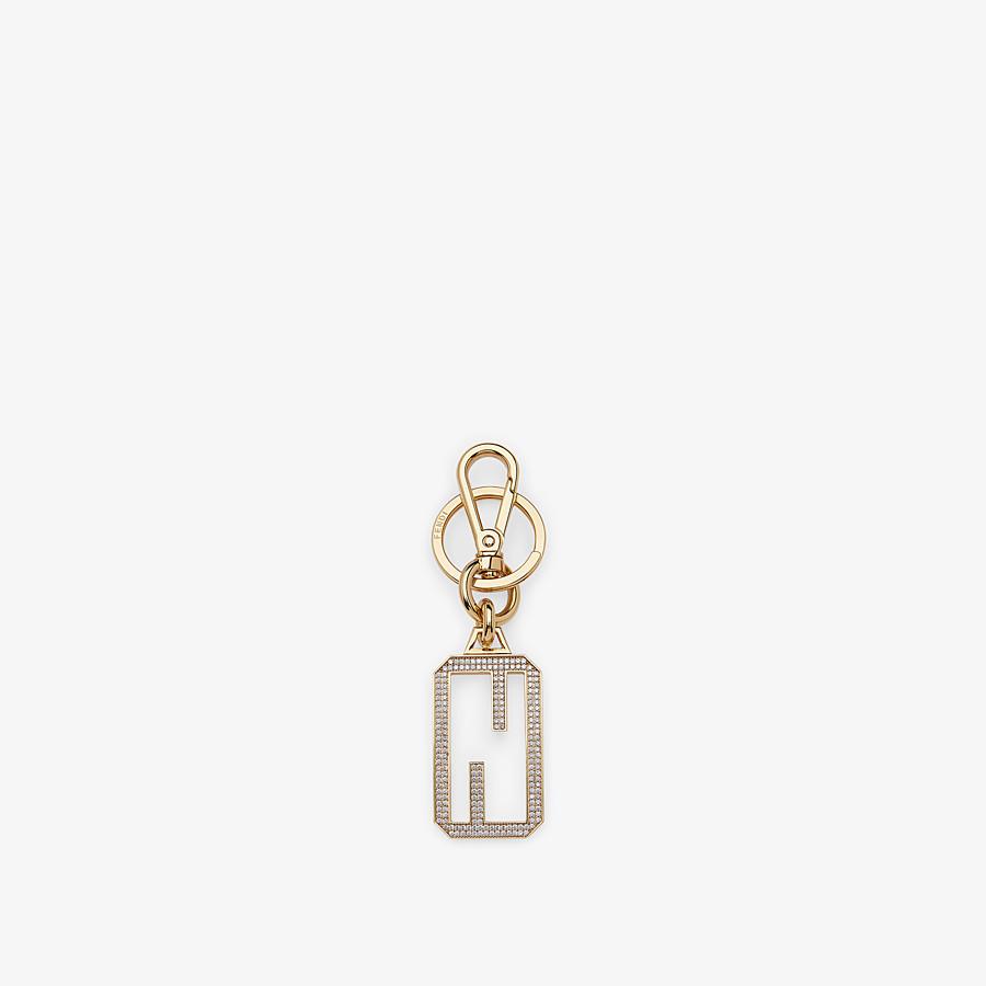 FENDI KEY-CHARMS BAGUETTE - Golden metal key ring - view 1 detail