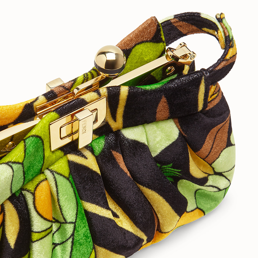 FENDI PEEKABOO CLICK - Small bag in multicolour chenille - view 6 detail