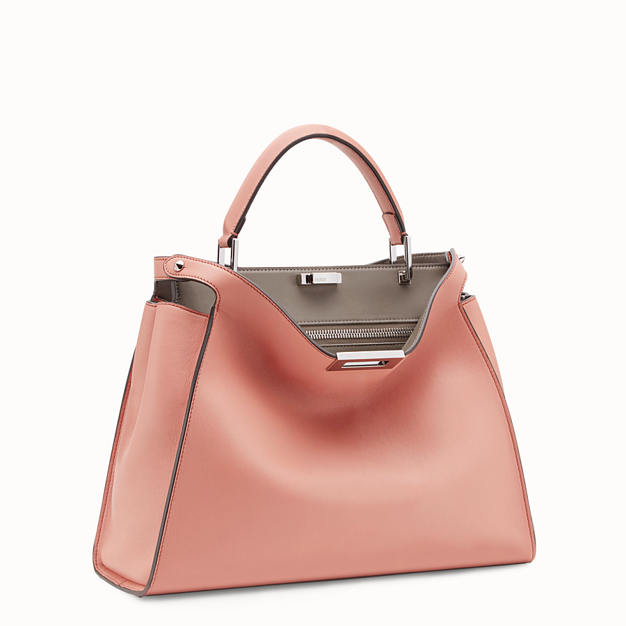 FENDI PEEKABOO ESSENTIAL - Tasche aus Leder in Rosa - view 2 detail