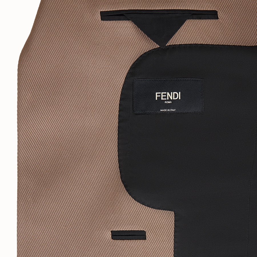FENDI JACKET - Black gabardine blazer - view 6 detail