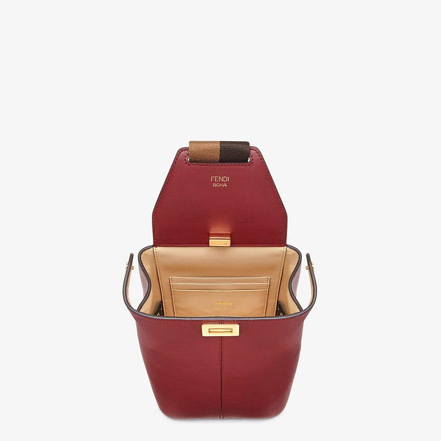 FENDI GUITAR BAG - Burgundy leather mini-bag - view 4 detail