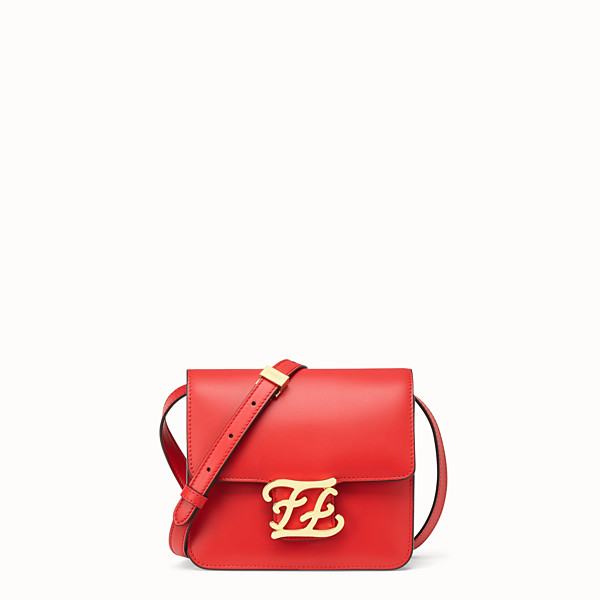 FENDI KARLIGRAPHY - Tasche aus Leder in Rot - view 1 small thumbnail