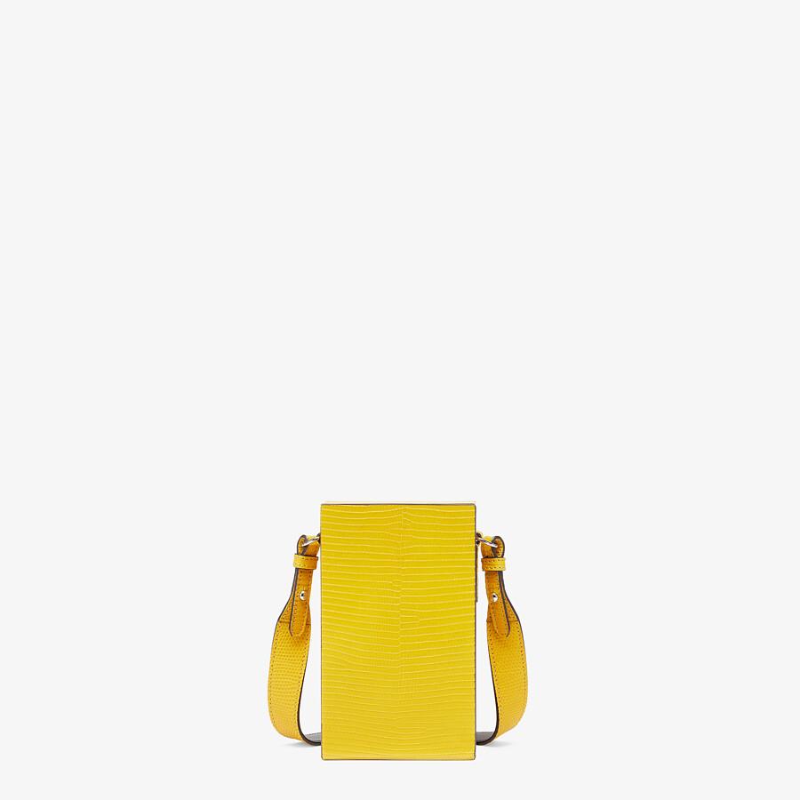 FENDI VERTICAL BOX - Yellow lizard bag - view 3 detail