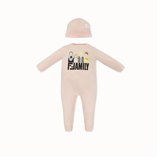 FENDI BABY KIT - Pink jersey baby kit - view 1 small thumbnail