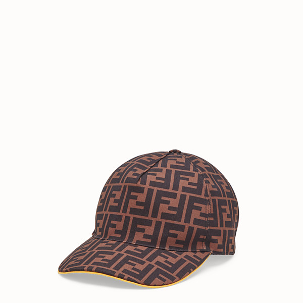 FENDI HAT - Multicolour canvas baseball cap - view 1 small thumbnail