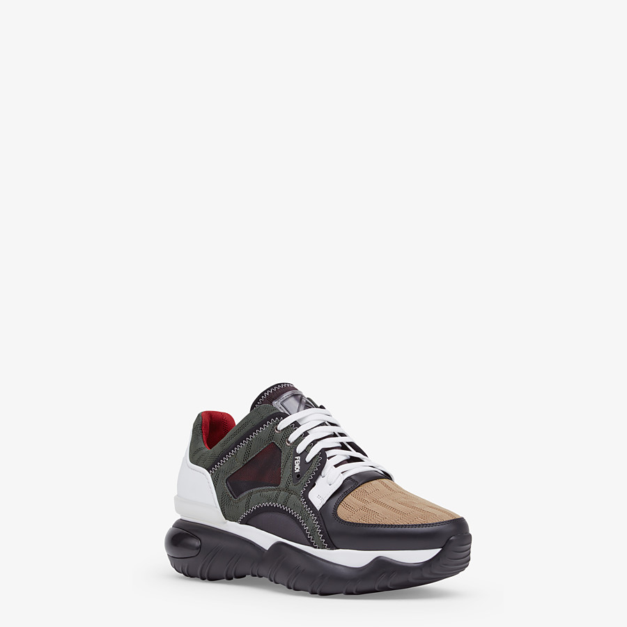 FENDI SNEAKERS - Multicolour tech mesh sneakers - view 2 detail