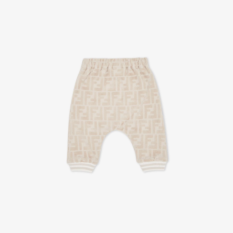 FENDI BABY PANTS - Beige chenille baby pants - view 2 detail