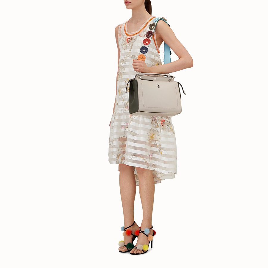 FENDI STRAP YOU - Shoulder strap in white leather with flowers - view 3 detail