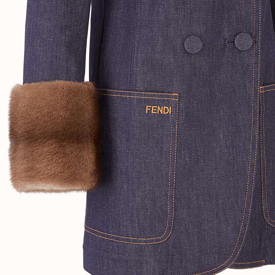 FENDI JACKET - Blue denim blazer - view 3 detail