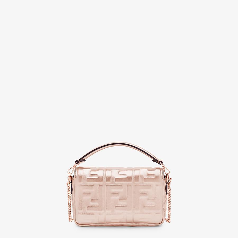 FENDI BAGUETTE MINI - Pink leather bag - view 3 detail