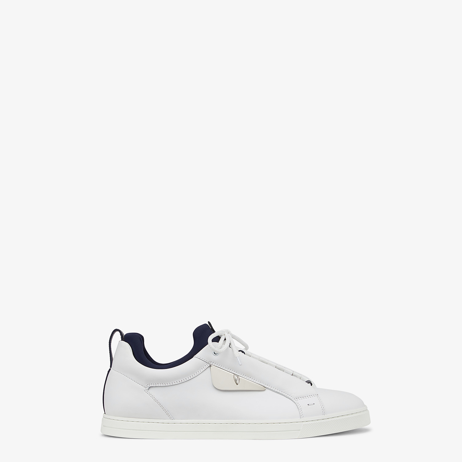 FENDI SNEAKERS - White leather low-tops - view 1 detail