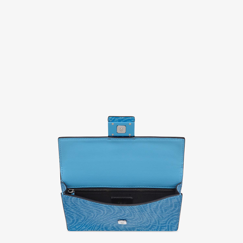 FENDI BAGUETTE POUCH - Blue fabric bag - view 4 detail