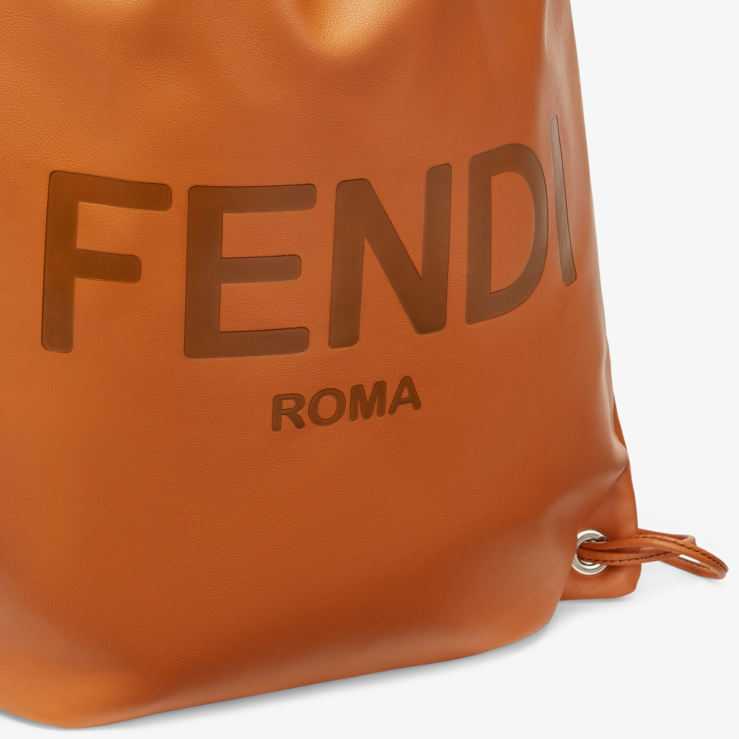 FENDI BACKPACK - Brown leather backpack - view 4 detail