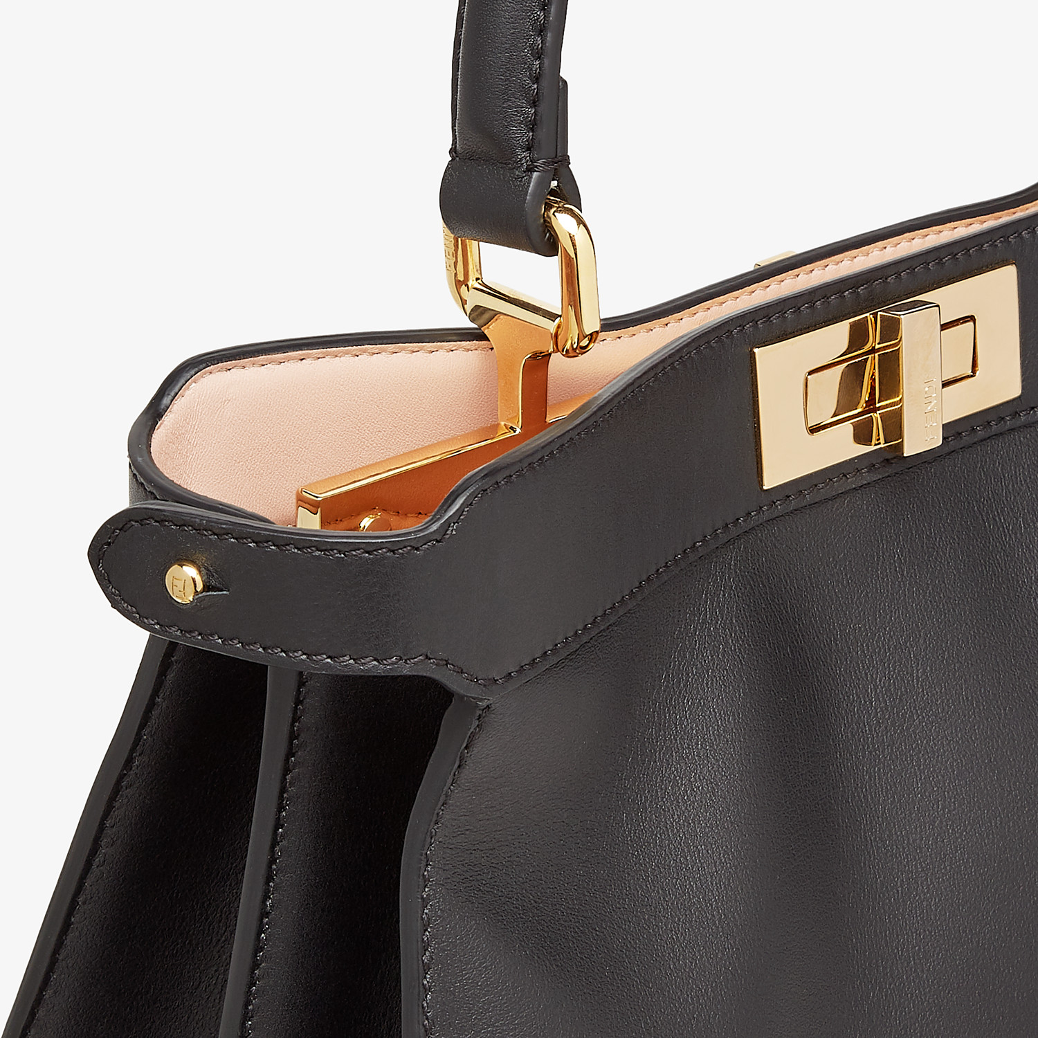 FENDI PEEKABOO ISEEU MEDIUM - Black leather bag - view 7 detail
