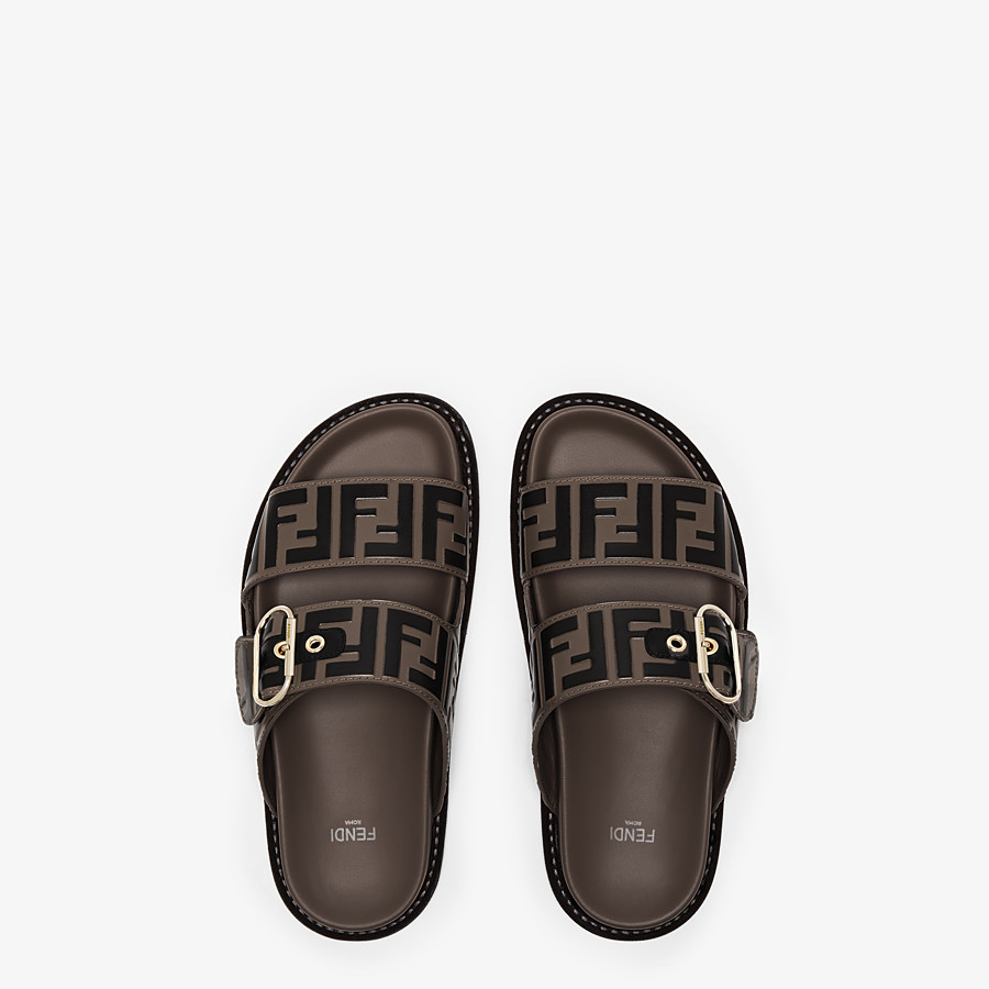 FENDI SLIDES - Multicolor leather flats - view 4 detail