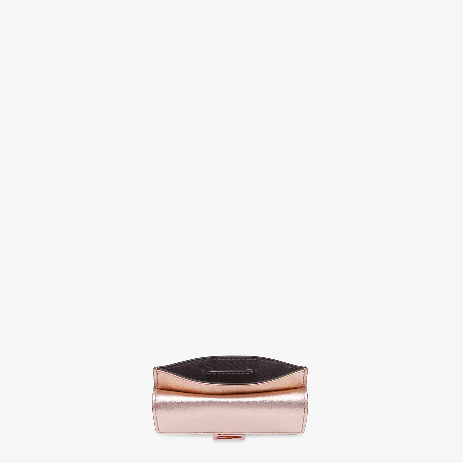 FENDI CARD HOLDER - Pink leather cardholder - view 4 detail