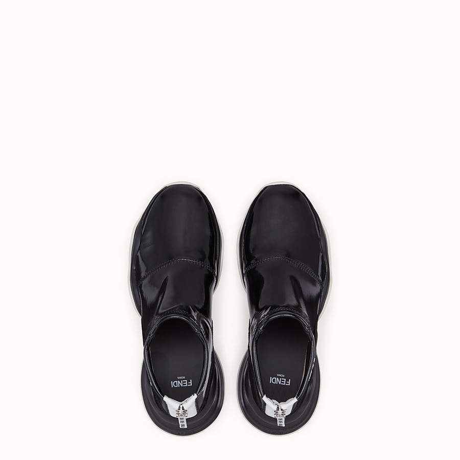 FENDI SNEAKERS - Sneakers in glossy black neoprene - view 4 detail