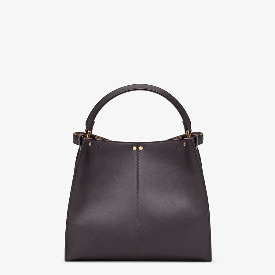 FENDI PEEKABOO X-LITE MEDIUM - Borsa in pelle marrone - vista 5 dettaglio