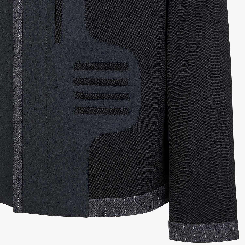 FENDI JACKET - Blue wool jacket - view 3 detail