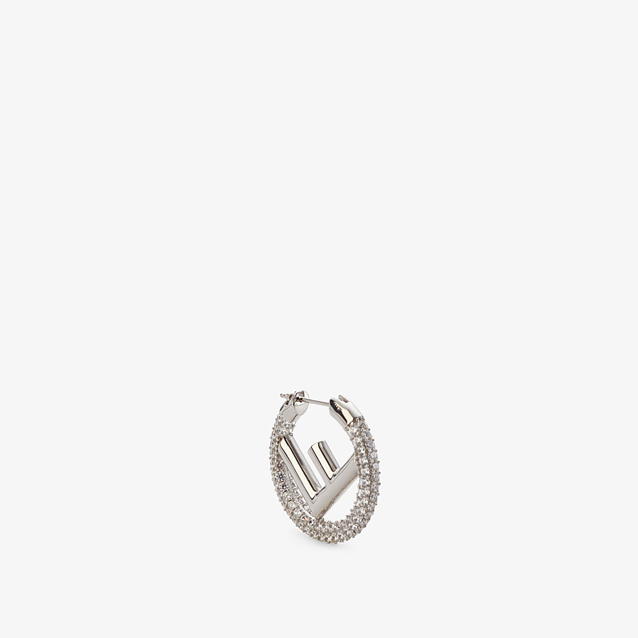 FENDI F IS FENDI EARRING - Silver-colored earring - view 1 detail