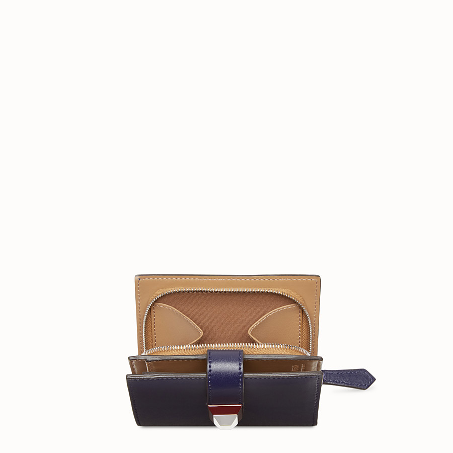 FENDI BIFOLD - Small blue leather wallet - view 4 detail