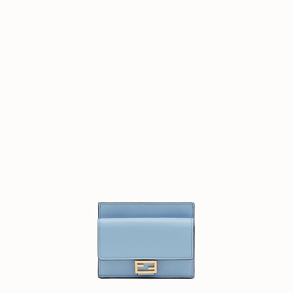 FENDI CARD HOLDER - Light blue nappa leather cardholder - view 1 small thumbnail