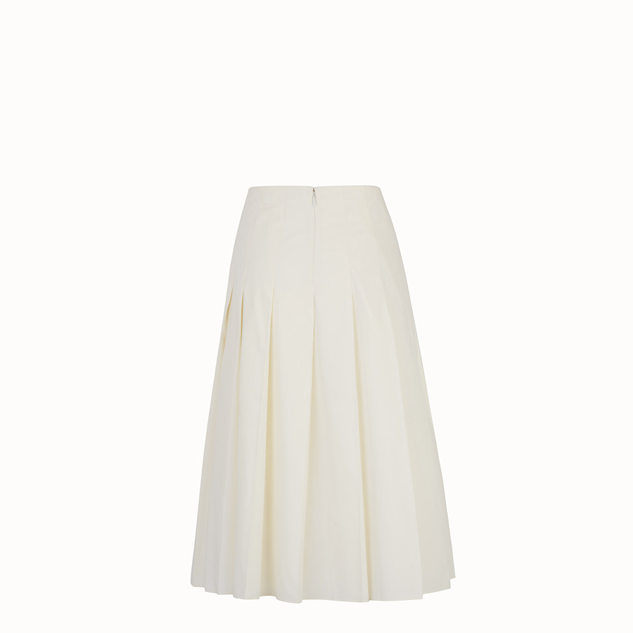 FENDI SKIRT - White taffeta skirt - view 2 detail